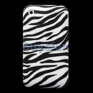 Black Zebra GEL Cover Case skin for Apple iPhone 3G 3GS