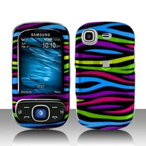 Colorful Zebra Hard Case Snap on Cover for Samsung Strive A687