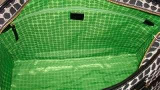 NWT KATE SPADE Classic Noel Weekender Triang Duffel Bag