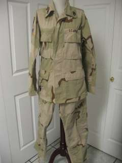 US Army Military Desert Combat Pattern Camouflage Coat Trousers Small