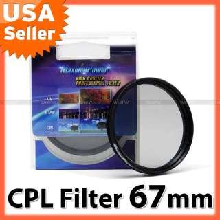 67mm CPL Circular Polarizer Polarizing Filter 67 mm