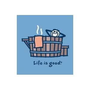 Life Is Good Rustic Hot Tub on Shadow Mens Longsleeve Tee