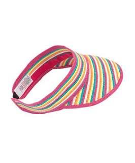 null (Multi Col) Candy Stripe Sunvisor  250035599  New Look