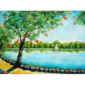 Oil Paintings   31 x 23 Hoan Kiem Lake   O166: Home & Kitchen