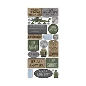 Collection Army Jumbo Stickers MIL19215; 3 Items/Order