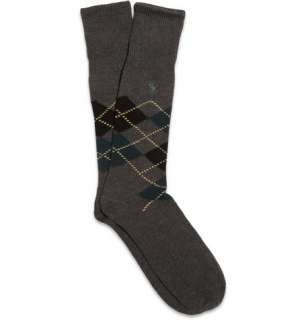Accessories  Socks  Formal socks  Argyle Cotton Blend Socks