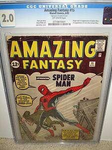 Amazing Fantasy #15 CGC 2.0 Origin 1st Spider man 71 cm