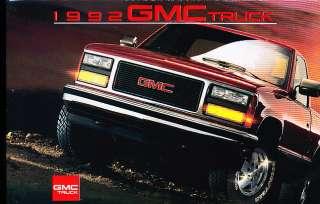 1992 GMC Truck Sales Brochure Syclone Sierra Yukon GT