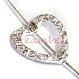 Sterling Silver Hammered Heart RING Bead FRAME 14mm