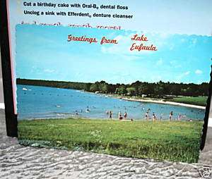 VINTAGE GREETINGS FROM LAKE EUFAULA OKLAHOMA POSTCARD