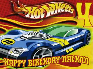 HOT WHEELS Edible Birthday CAKE Image Icing Topper