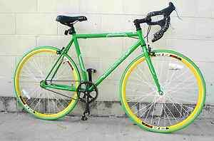 Fixed Gear Bike Fixie Bike Road Bicycle 53cm Green RD 267