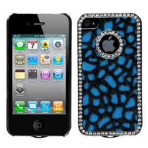Blue Gun Metal Plating Wool Leopard Skin Elite Dazzling