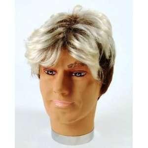 1980s Two Tone Mens Fancy Dress Wig Inc FREE Wig Cap Toys