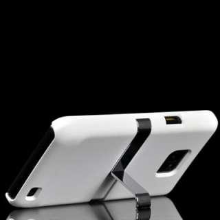 weiß Ständer Hard Case Cover Tasche Etui Hülle für Samsung Galaxy