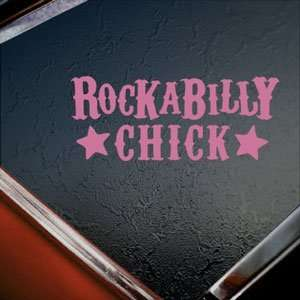 Rockabilly Chick Pink Decal Car Truck Window Pink Sticker