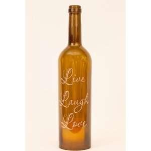 Wine Bottle Hurricane Lantern Live Laugh Love