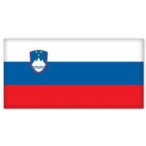 Slovenia Slovenian Flag car bumper sticker 5 x 4