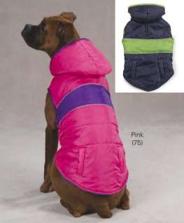 East Side Collection Brite Stripe Dog Parka Coat Jacket