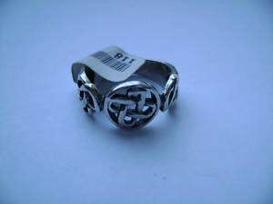 Sterling Silver Celtic Tri Design Band Ring Sz 6 7 8 9