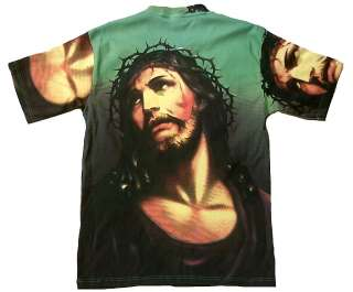 JESUS CHRIST AVE MARIA ENGEL Religion Tattoo Motiv Designer T Shirt S