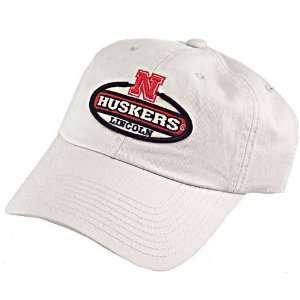 Nebraska Cornhuskers Khaki Vintage Oval Hat  Sports