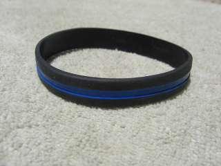 Thin Blue Line Wristband/Bracelet Band Thin Blue Line Police