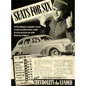 1941 Ad Chevrolet Motor Division General Motor Six