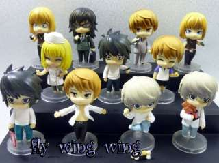 Death note L misa Ryuk Night Yagami figure set 11 pcs