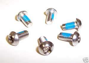 Bicycle Disc Brake Torx Head Rotor Bolts Set of 6 New