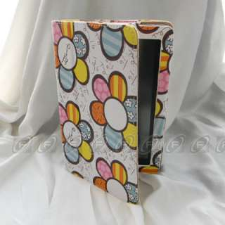 Kindle Fire PU Leather Flower Case Cover/Car Charger/USB Cable