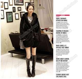 New Women's Hoodie Down Warm Outerwear Cardigan Jacket Coat Three