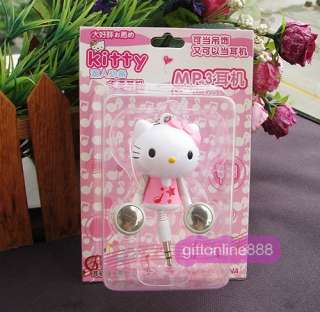 Hello Kitty Retractable Stereo  MP4 MAC PC Earphone