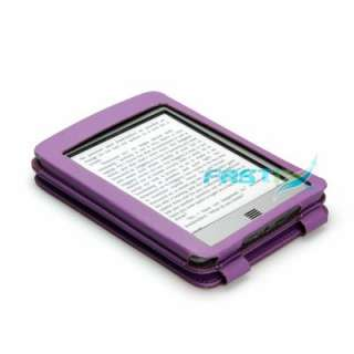 PU LEATHER FLIP CASE COVER FOR KINDLE TOUCH WITH SLIM LIGHT