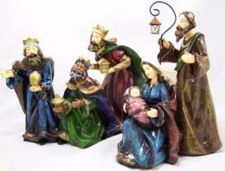 Piece Large Painted Christmas Nativity Set Scene Figure Figurine