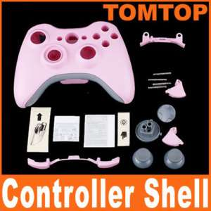 Pink Wireless Controller Full Shell Case for XBOX 360