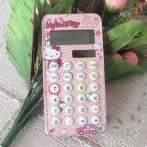 Pink Hello Kitty Design Portable Girl Maze Calculator