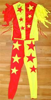 MAHO MAN RANDY SAVAGE RING WORN & SIGNED RED & YELLOW WWE / WWF/ WCW