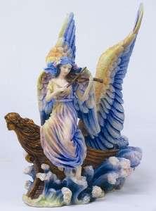 Angel Ship Violin Musical Voyage Statue Figurine Josephine Wall