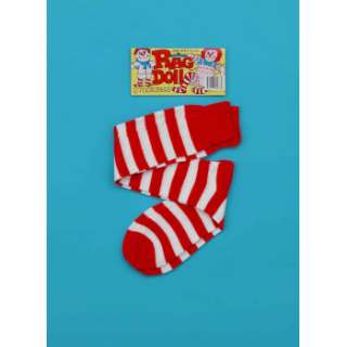 STRIPED SOCKS Stripe Raggedy Ann Doll Christmas Elf Long Clown Costume