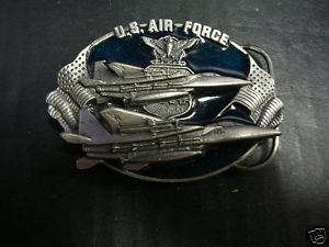 AIR FORCE 1982 BERGAMOT Pewter FIGHTER JETS Buckle