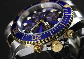 Diver Quartz Chronograph Two Tone Stainless Steel Watch 1773