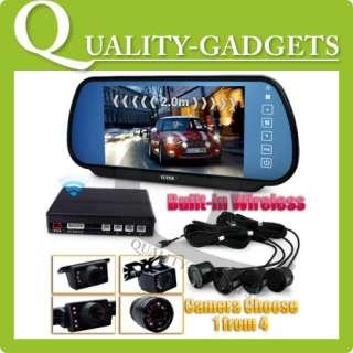 Mirror LCD Monitor Parking Sensor + Reversing Camera +Bluetooth