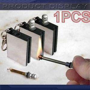 Cigar Match lighter Petrol Gas Key Ring Gadget Gift