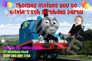 THOMAS THE TANK ENGINE Birthday Party Invitations Favor
