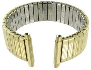 19mm Speidel Stainless Twist O Flex Gold Tone Metal Watch Band 1368/37