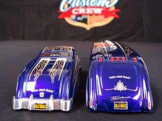 Custom Crew Candy Blue Flames Sledster Merc Drag Bus