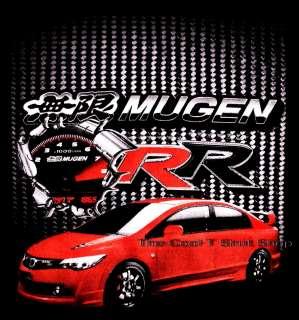 MUGEN RR Honda CIVIC Type R Sport Racing Black Tee~L