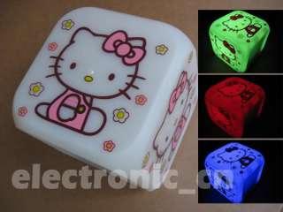 hello kitty cute girls colourful alarm clock watch C K1
