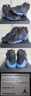 Nike Air Jordan 8.0 Retro GS Grade School Black Blue Red Sz 7 new